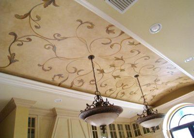 Hand Painted Custom Ceiling Design