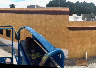 Commercial Painting. Complete exterior faux at Tijuana Taxi in Deerfield Beach florida