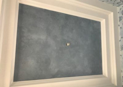 Custom Faux Finish on Ceiling in Dining Room