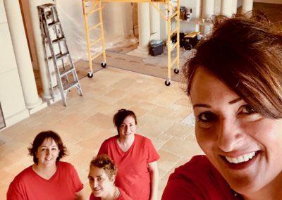 A team of women working at a job site in Highland Beach FL.