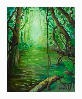 Rainforest Painting by Mabel Vittini