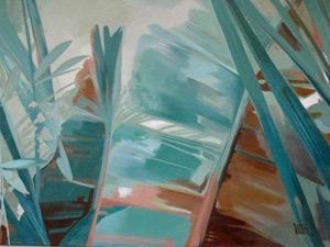 Palms Abstract Painting Mabel Vittini