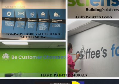 Commercial Painting business logos hand painted