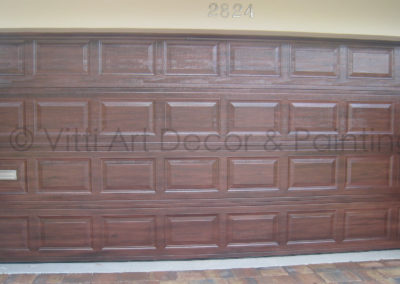 Faux Wood Grain Garage VittiArt Decor