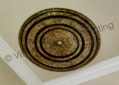 Custom Artist Designed Tray Ceiling