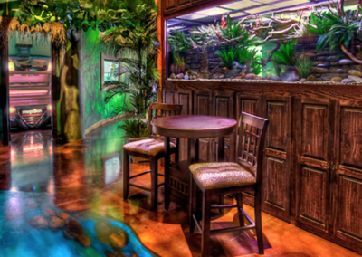 Rainforest Themed Waiting Area at Boca Tanning Club