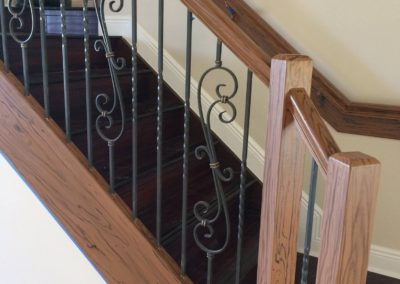 Staircase wood grained