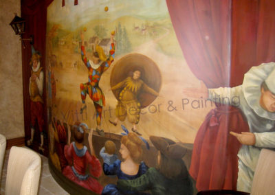 The Harlequin Show Mural in Dining Room
