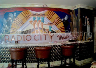 """""""Radio City Music Hall"""" Mural in a Home Theater"""