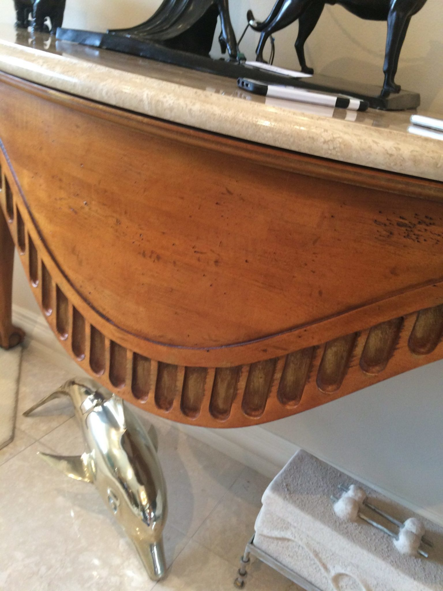 Faux Wood Grain and Faux Marble refinishing Furniture by Vitti Art Decor and Painting