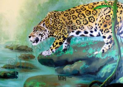 Jaguar Mural by Mabel Vittini of Vitti Art Decor & Painting