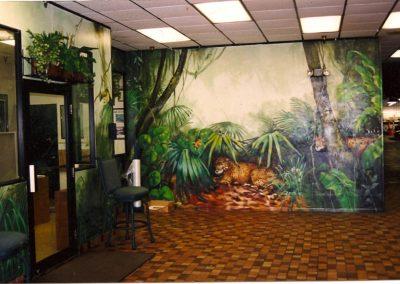 Range Rover Jaguar Dealership Rainforest Mural by Mabel Vittini