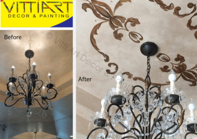 Custom Decorative Hand Painted Tray Ceiling