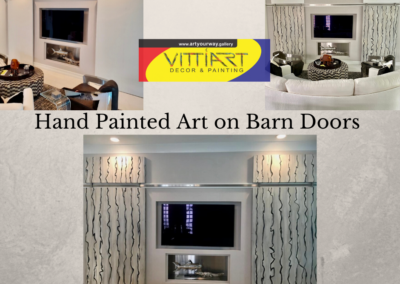 Hand Painted Art on Barn Doors